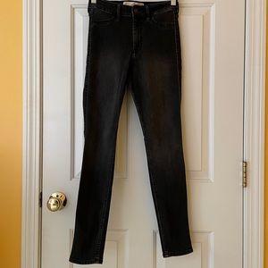 Hollister 1S Black Super Skinny High Rise Jeans